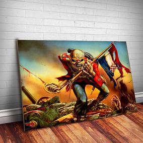 Placa Decorativa Iron Maiden 4 Banda Quadro Mdf 3mm