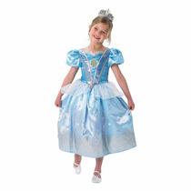 Disfraz Princesa Cenicienta Talle S 3-4 Años Original Disney