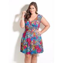 Vestido Feminino De Festa / Balada Plus Size - Roupa Florida