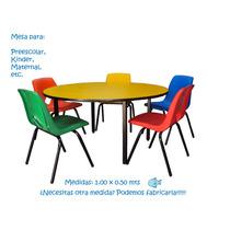 Mesa Infantil Redonda, Circular Para Kinder, Preescolar,etc.