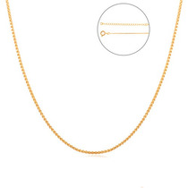 Cordão Corrente Veneziana Folheada A Ouro 18k 50cm Masculino