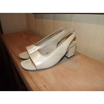 Zapatos Excelente Fabricacion 36 / 37 Perlado Guido Gabrieli