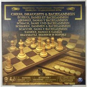 Ajedrez Damas Y Backgammon 3 En 1