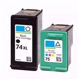 Cartuchos Hp 74xl + 75 Para Impressora Hp Photosmart C4480