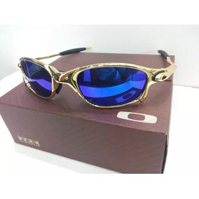 1b03bd809617f Oculos Oakley X Metal Juliet 24k Dourada Magic Blue Novo - Óculos De ...
