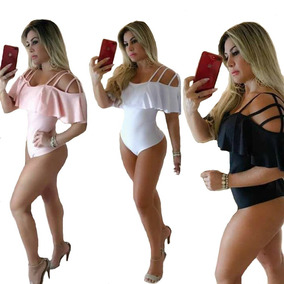 Body Feminino Babado Ciganinha Tirinhas Tiras Ombro Moda