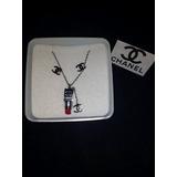 Set De Collar, Aretes Y Dije Marca Chanel De Moda