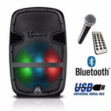 Bafle Bocina 8 Amplificado Bluetooth Recargable Usb Activo