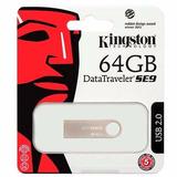 Memoria Flash Usb Kingston Se9 G2 64gb Metálica Dtse9g2/64gb