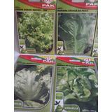 Kit Salada Coleção 10 Tipos De Sementes Diferentes De Alface
