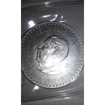 Moneda Plata 10 Pesos 1957 Juarez Centenario De Constitucion
