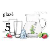Juego De Agua, Incluye 1 Jarra De 1.5 Litros (hecha A Mano) Y 4 Vasos De 350 Ml.