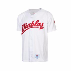 Camisola Beisport Beísbol Diablos Rojos Del México-blanco