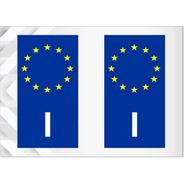 2 Adesivos Itália União Européia - Italiano - Outros Países