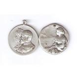 Lote De Dos Medallas De Plata Antiguas 15 Gramos