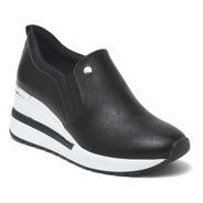 Tênis Feminino Anabela Sneaker Via Marte Slip On 21-1202 Pre