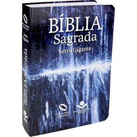 Biblia Sagrada Letra Gigante Azul Grande