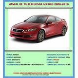 Manual De Taller Reparación Diagramas Honda Accord 2008-2010