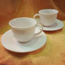2 Tazas De Café Blancas Porcelana Inglesa
