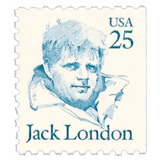 Us Sc #2197 - 1988 25c Jack London Con Matasello.