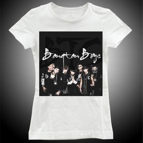 c727a4eee3 T-shirts Grupo Banda Bts Blusa Roupa Camisa Feminina Mt0004