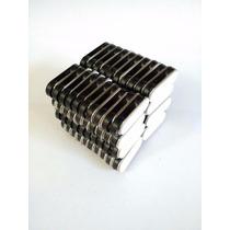 Porta Gafete Magnético 2 Puntos De Neodimio (50 Piezas)