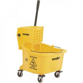 Carro/balde Plástico Para Limpeza Com Espremedor 32 Ie