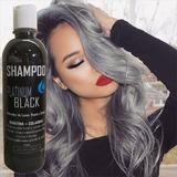 Shampoo Matizador Platinum Black Cabello, Luces Y Rayos!!