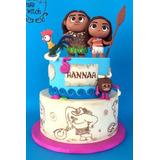 Torta Moana Cupcakes Cakepops Maqueta