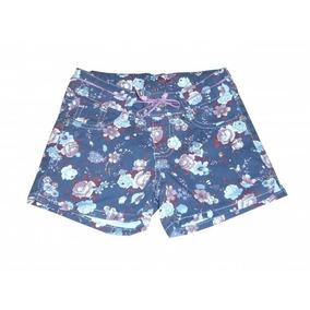 Kit 6 Shorts Jeans Infantil Feminino Azul Florido