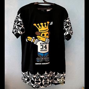 Camisa Camiseta Blusa Zíper Longline Swag Kings Bllus