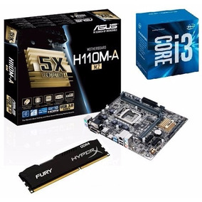 Kit Mb Asus H110m-a/m.2 Usb3.0 Hdmi+ I3 7100 +8 Gb Fury