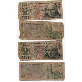 Billete Antiguo Mexico Diez Pesos Maltarado Años 70s S1