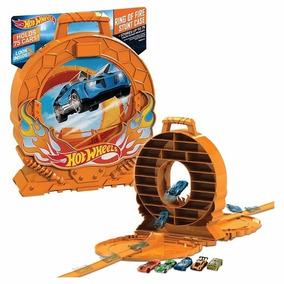 Caja Porta Carros Hot Wheels Ring Of Fire Nuevo