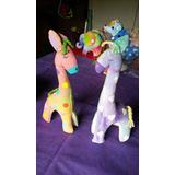 Muñecos De Tela Artesanales Pintados A Mano, Jirafa!