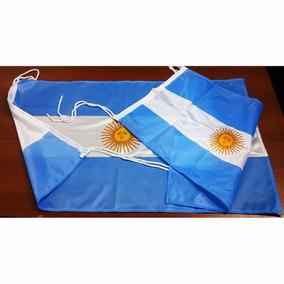 Bandera Argentina 30 X 45cm Sol Oficial Refuerzo Y Sogas