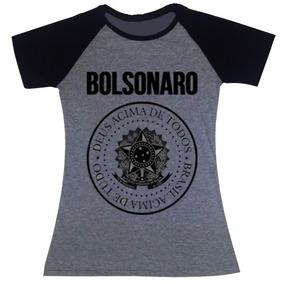 73dde016b6 Camiseta Raglan Bolsonaro Presidente Brasil Acima De Tudo Deus