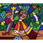 Poster P Quadro Romero Britto 60x70cm Obra Colors Of Brazil