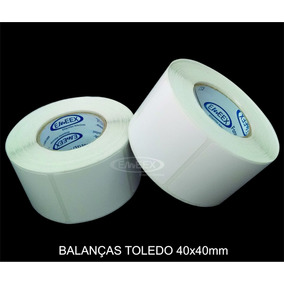 Etiqueta 40x40 Balança Toledo Prix4 Uno - Prix5 - 30 Rolos