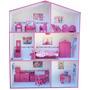 Casita De Muñecas Para Barbie, C/muebles, Luz Y Comidas