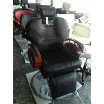 Sillón De Barberia Barbero Barber Uso Rudo Piston Grande