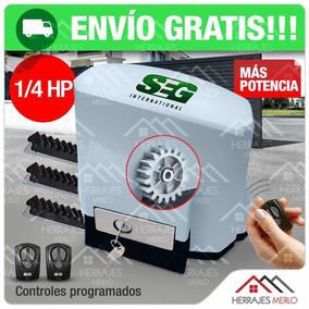 Motor Porton Corredizo Automatico Seg 400kg 1/4hp Abs Pesado