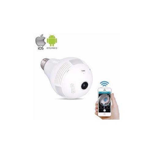 Câmera Segurança Ip Interna 360 Graus Visão Noturna Celular