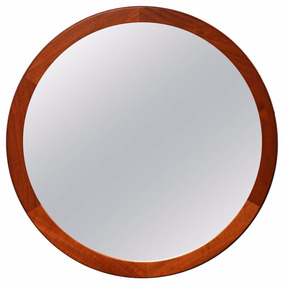 Espejos redondos espejos con marco de madera en mercado for Espejo redondo marco madera