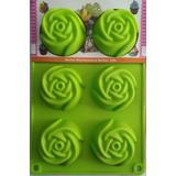 Molde Silicon Rosas Para Gelatinas, Cupcakes Y Postres