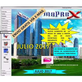 Base De Datos Maprex Julio 2017.
