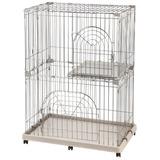 Iris 2-tier Wire Pet Cage, Gris