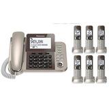 Teléfono Panasonic Inalámbrico Con 6 Auxiliares