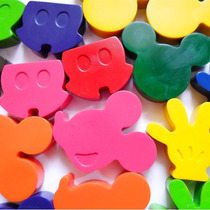 Crayones - Souvenirs - Mickey - Cumpleaños - Pack X 48