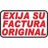 Señal Autoadhesivo Exija Su Factura Original
